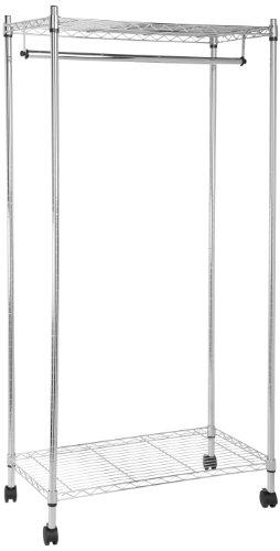 AmazonBasics Burro Perchero 2 estantes cromado