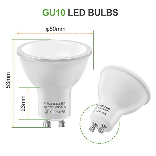 6 Bombillas LED GU10 Bighouse