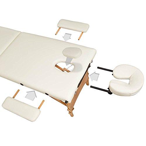 TecTake Camilla de masaje 2 secciones