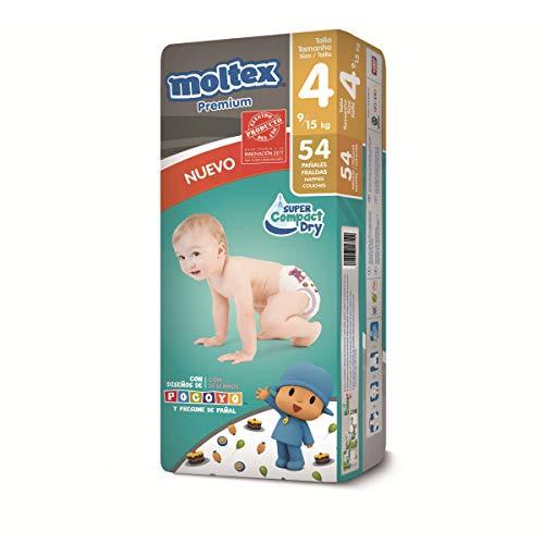 Moltex Premium Talla 4 Pack 54 Pañales