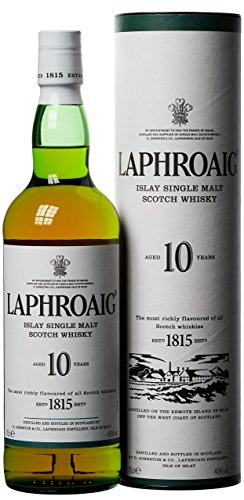 Laphroaig 10 Años Islay Single Malt Whisky Escocés