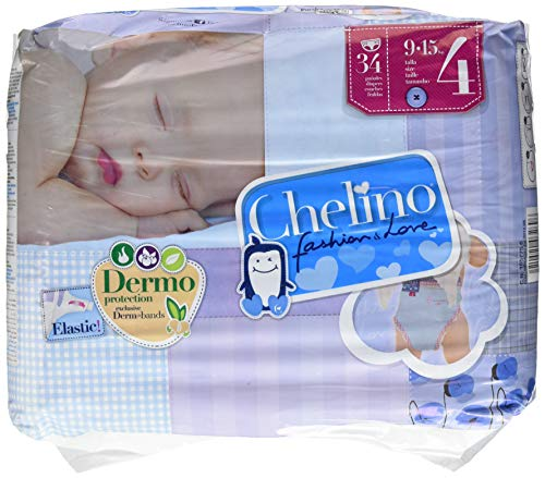 Chelino Fashion & Love Talla 4, 6 packs de 34 (204 pañales)