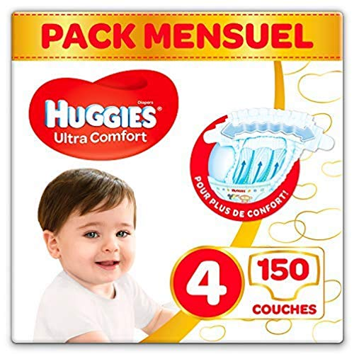 Huggies Ultra Comfort Talla 4 Pack 150 Pañales