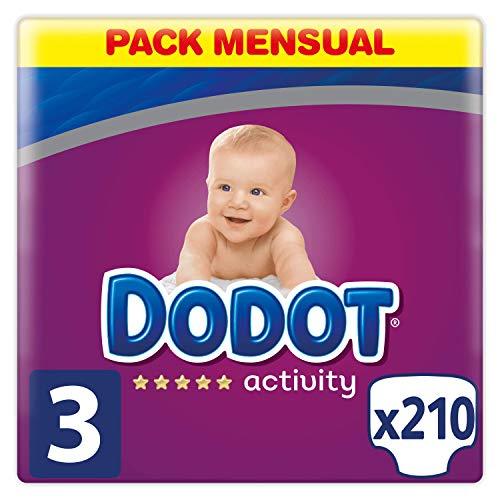 Dodot Activity Talla 3 pack 224 pañales